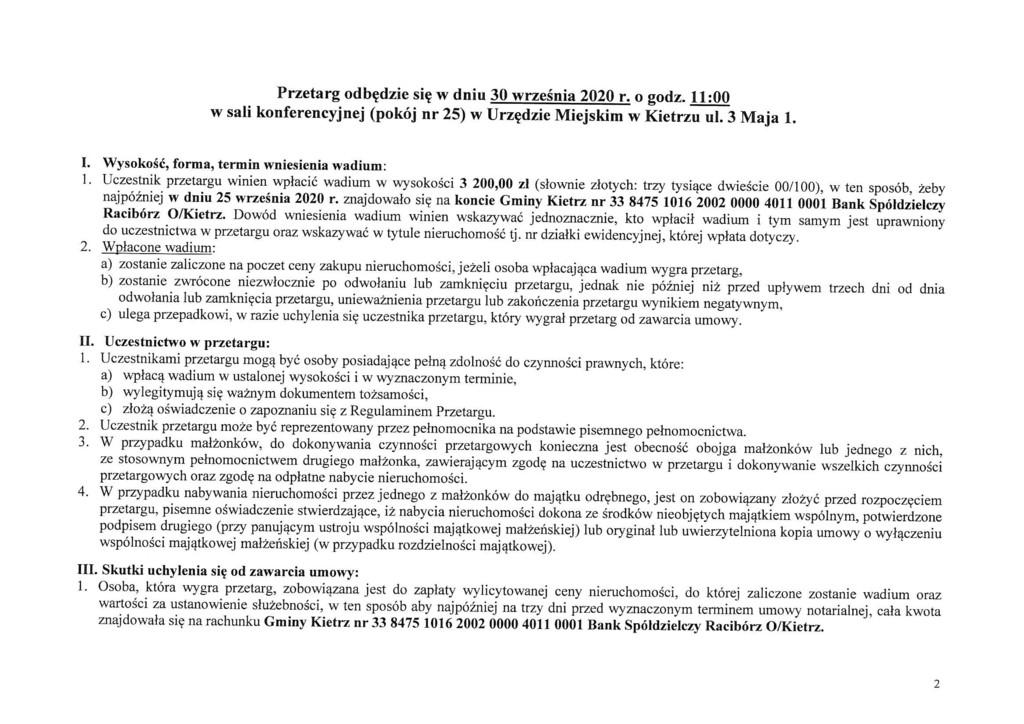 Ogłoszenie o III publicznym przetargu ustnym nieograniczonym na sprzedaż dz. 1682_1 Kietrz ul. Kościuszki-2.jpeg