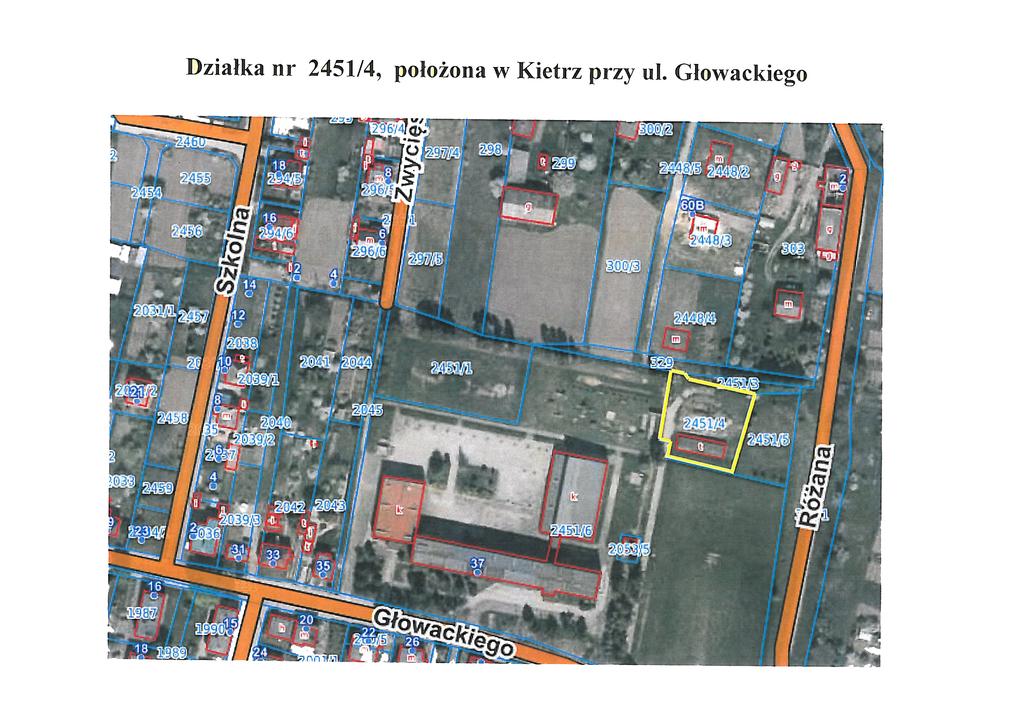 Mapa działki nr 2451-4 Kietrz ul.Głowackiego-1.jpeg